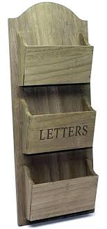 Mail Organizer Wall Mounted Organizers Rustic Wooden Letter