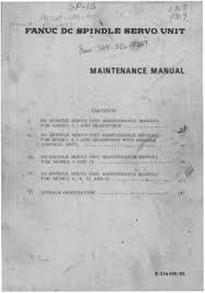 fanuc dc spindle servo unit maintenance manual cnc manual fanuc dc spindle servo unit maintenance manual