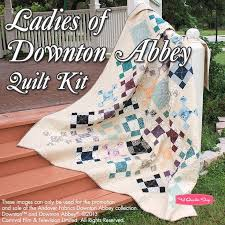 24 best Downton Abbey Quilts images on Pinterest | Quilt patterns ... & Ladies of Downton Abbey Quilt Kit Featuring Downton Abbey by Andover  Fabrics - Downton Abbey - Adamdwight.com
