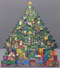 tree advent calendar traditions byers choice wooden train presents