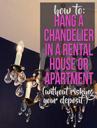 awesome how to hang a chandelier with wall switch in a al house or for