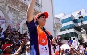 """Tunisie : Sous le slogan """"Ghannouchi dégage """", le Parti destourien libre  (PDL) se manifeste devant le Théâtre municipal à Tunis - AFRICAN CHALLENGES"""