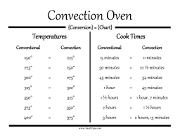 Oven Time Conversion Chart Oven Conversion Chart