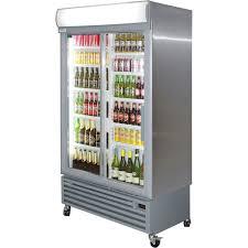 staycold upright 2 sliding door commercial fridge 3