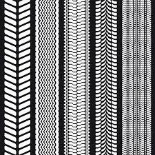 tire tread texture seamless. Simple Seamless Set Of Five Tire Treads Seamless Texture Vector Illustration Stock   25093103 In Tire Tread Texture T