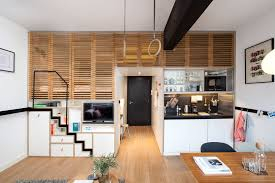 furniture for efficiency apartments. Awesome Small Studio Apartments With Lofted Beds Plans Loft Apartment Floor Furnishing Efficiency Furniture Layout Design Ideas Flat Tiny Decorating Long For
