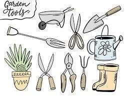 premium vector set garden tools
