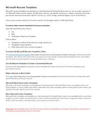 Free Basic Resume Templates Microsoft Word Cute Free Basic Resume