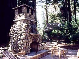material gilroy fieldstone outdoor fireplace