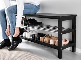 Storage saving furniture Singapore Ikea Tjusig Bench With Shoe Storage Makespace 15 Genius Spacesaving Furniture Ideas Designs For Small Apartments