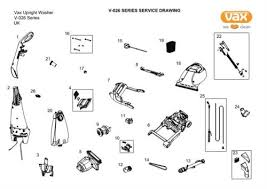 vax v 026u rapide deluxe carpet washer spares parts ransom spares diagram 1 ref 0