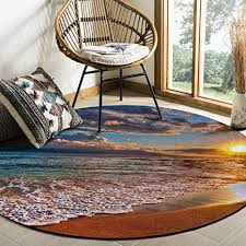 Carpet Quality Chart Amazon Com Round Area Rugs 4ft Diameter Sunrise Beach
