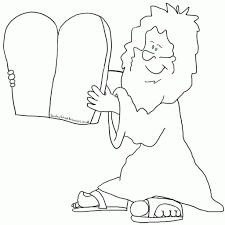10 Commandments Coloring Pages 2 5115 Inside Ten Color Page 5