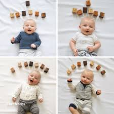12 Sweet And Simple Milestone Photo Ideas For Your Babys