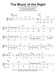 9 songs from andrew lloyd weber's classic, arranged for easy piano by bill boyd: Andrew Lloyd Webber The Music Of The Night From The Phantom Of The Opera Sheet Music Notes Chords Piano Download Broadway 26215 Pdf