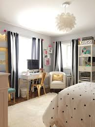 Black And White Teenage Bedroom Whats Black White And Chic All Over A Teen Bedroom Makeover In