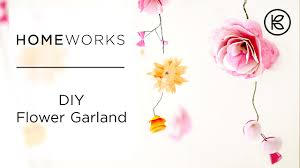 White Paper Flower Garland How To Make Paper Flower Garlands Kin Community Youtube