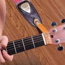 senarai harga yueko cowhide leather guitar strap handmade knit high quality strap for acoustic electric bass guitar strap guitar accessories terbaru di