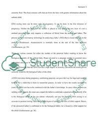 Dna Essay Should Parents Get Dna Testing While Pregnant Essay