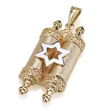 14k gold star of david and torah scroll necklace israel catalog com