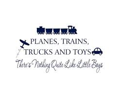 Little Boy Quotes Simple Boy Wall Decals Planes Trains Trucks And Toys By Wallartsy 4848