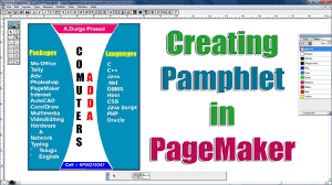 Page Maker Design Images Creating Pamphlet In Page Maker Project 7 Www Computersadda Com