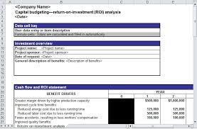Excel Roi Template Roi Analysis Roi Analysis Template Roi Analysis Spreadsheet