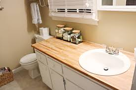 diy wood countertop bathroom interior design for hot mess makeover bower power in wooden
