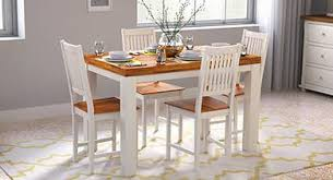 nashville 4 seater dining table set golden oak 01