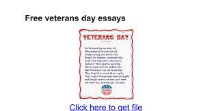veterans day essays google docs
