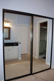mirrored sophisticated closet doors bypass npnurseries home design unique mirrored closet doors