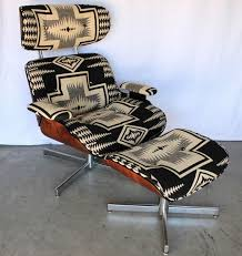mid century modern furniture portland. mid century navajo pendleton portland lounge chair ottoman recliner walnut eames mid century modern furniture