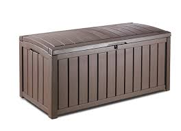 deck storage container. Amazoncom Keter Glenwood Plastic Deck Storage Container Box 101 Gal Home Kitchen Inside