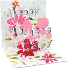 Mothers Greeting Card Pop Up Treasures Greeting Card Mothers Day Words