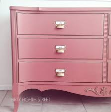 pink painted furniture. Pink Painted Dresser, Diy Card Catalog Furniture,  Chalk Dresser Furniture
