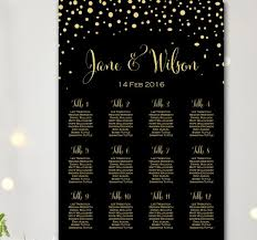 Baby Cakes Seating Chart Black Find Your Seat Chart Confetti Wedding Seating Chart