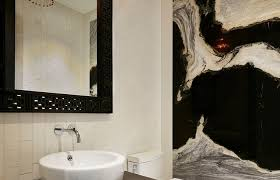 bathrooms chandelier adds dazzle to the small powder room always mini chandeliers for bathroom ideas