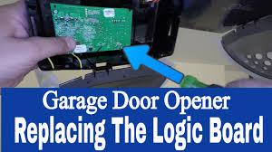 replacing the logic board on a chamberlain whisper drive 1 2 hp belt  at Chamberlain 3 4 Whisper Drive Logic Board Wiring Diagram