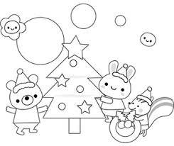 塗り絵イラスト飾りフリー クリスマス無料イラスト