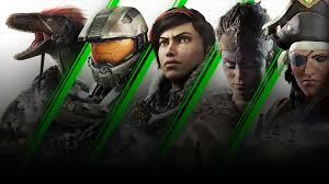 collage of game characters ark dinosaur master chief kait diaz senua and a