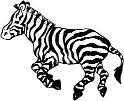 Small Picture Free coloring pages of baby zebras spesific Zebra Coloring Page