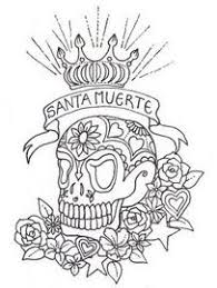 Small Picture Skull Coloring Pages for Adults printable sugar skull