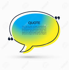 Quote Box On Trendy Gradient Background Vector Speech Bubble