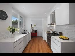 Popular White Country Galley Kitchen With Modern White Galley