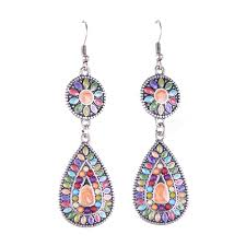 multi coloured chandelier earrings musethecollective