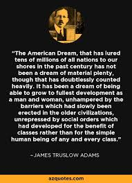 James Truslow Adams American Dream Quote