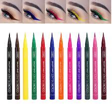 The Face Shop Designing Matte Eyebrow Pencil Coosa Matte Liquid Eyeliner 12 Colors Waterproof Eyebrows Pencil Long Lasting Liquid Eye