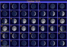 Get Printable Calendar October 2016 Moon Phases Calendar