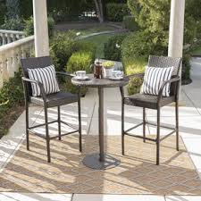 balcony patio furniture. Waldhaus 3 Piece Bar Height Dining Set Balcony Patio Furniture D
