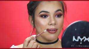 all makeup tutorial easy burgundy makeup look that will make you slay on a budget gif